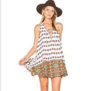 Show Me Your Mu Mu Rancho Mirage Lace Up Dress
